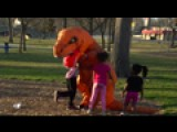 Trex Plays With Kids