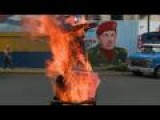 Venezuelans Burn Obama And Maduro Puppets For Easter