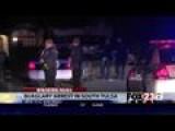 VIDEO: Firefighter Holds Shirtless Burglar At Gun Point