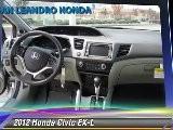 2012 Honda Civic EX-L - San Leandro Honda, Hayward Oakland Bay Area