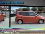 2008 Honda Fit Sport - San Leandro Honda, Hayward Oakland Bay Area