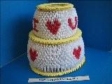 3D Origami I Love U Mom Cake
