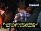 Ashlee Simpson And Dad Leave Event On Robertson Blvd