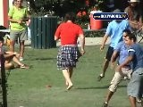 Adam Sandler Playing Soccer In A Skirt!!