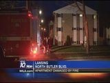 Apartment Fire Near Downtown Lansing