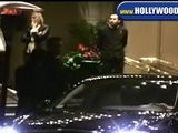 Ben Stiller And Christina Taylor Leaving Beverly Wilshire