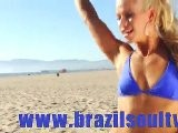 Brazil Soul TV:Brazilian Blond Girl In Bikini Dances Samba On The Beach!
