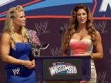 Beth Pheonix & Eve Torres At The WM Press Conference