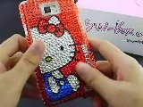 Cute Hello Kitty Samsung I9100 Galaxy S2 Rhinestone Cases