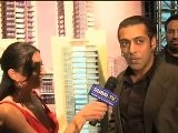 Dubai.tv Host Janeen Mansour Interviews Salman Khan At The Launch Party For Hydra Twin Towers