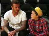 David Beckham Celebrates Son&#039 S Birthday At Lakers Game