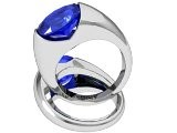 Ellipse Oval Sapphire Lab Created Fashion Ring