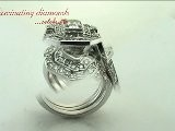 Emerald Cut Halo Diamond Engagement Rings Set In Channel Setting
