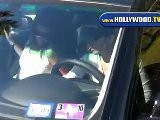 Eva Longoria Parker Leaves Sunset Plaza In Los Angeles