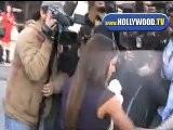 Eva Longoria Caught In Paparazzi Throng Leaving Salon