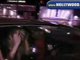 EXCLUSIVE:Courtney Love Leaves The ROXY With The Finger