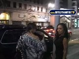 Elise Neal And Melyssa Ford Leave Katsuya Restaurant