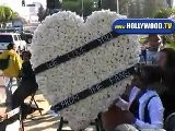 Fans Bring Flowers For Michael Jackson In Burbank