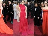 FabSugarTV Michelle Williams, Emma Stone, And Natalie Portman Heat Up The Oscars In Shades Of Red