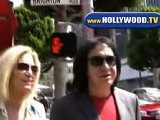 Gene Simmons And Shannon Tweed Have Lunch At Prego
