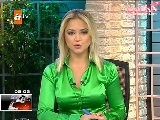 Hilal Ergenekon - Green Satin Blouse
