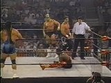 Harlem Heat Vs. Steiner Brothers Vs. Sting & Lex Luger