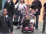 Halle Berry Scoots Around Disneyland