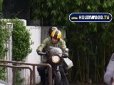 Halle Berry Tempts Fate With Motorcycle Riding In The Rain