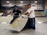 How To Skateboard With Bam Margera: Ramp Tricks 50 50