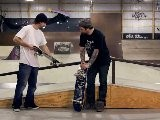 How To Skateboard With Bam Margera: Easy Tricks Crooked Grind