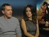 Interview With Antonio Banderas And Salma Hayek For Puss In Boots