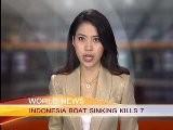 INDONESIA BOAT SINKING KILLS 7