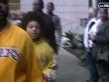 Ice Cube Departs Staples Center