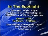 In The Spotlight: Strength, Hope, Afiya: HIV AIDS Workshop 3-5 7am