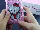 I9100 Galaxy S II S2 Rhinestone Bling Case With Hello Kitty