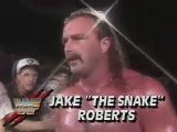 Jake The Snake Roberts In Action + Macho Man Randy Savage Attacked