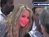 Jennifer Lawrence Greets Fans At Jimmy Kimmel