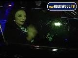 Joan Collins Signs Autographs Outside Restaurant