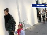 Jessica Alba Takes Daughter To Beverly Hills