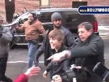 Justin Bieber Greets Young, Shrieking Girls At David Letterman