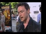 JAMES McAVOY SAYS ANGELINA JOLIE WANTED AT PREMIERE