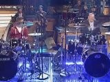 Justin Bieber Playing Drums On German TV - Nov. 15, 2011