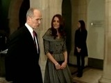 Kate Goes Solo In London With William Away In The Falklands