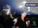Kim Kardashian And Kelly Osbourne Go Retro Skating