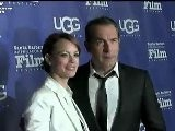 French Stars Jean Dujardin And B&eacute R&eacute Nice Bejo Of The Artist Movie SBIFF 2012 Awards