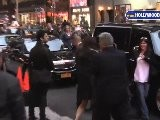 Katie Holmes And Rick Perry Leaving The Late Show
