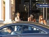 Kourtney, Kim Kardashian Perform Additional Shopping In Beverly Hills