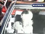 Kirsten Dunst And Friend Trying To Leave Parking Lot In Hollywood