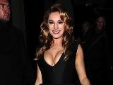 Kelly Brook Shows Some Major Cleavage At London Fashion Week