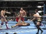 KAI, Hiroshi Yamato & Gillette Vs Akira Raijin, Kaz Hayashi & Minoru Tanaka AJPW
